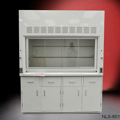 Chemical 6' Fume Hood with Epoxy Top & GENERAL STORAGE Cabinets