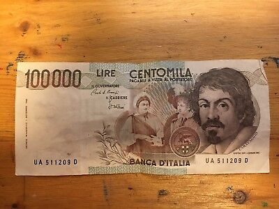 100000 Lire From Italy