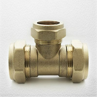 3//4 inch BSPT FEMALE IRON FtD STRAIGHT COUPLER BRASS 28mm Compression