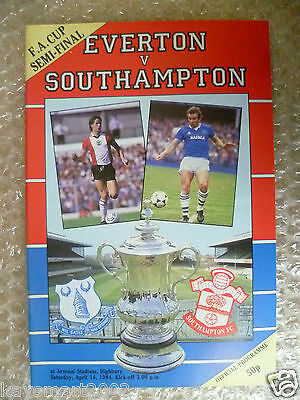 1984 FA Cup Semi Final EVERTON v SOUTHAMPTON, 14 April