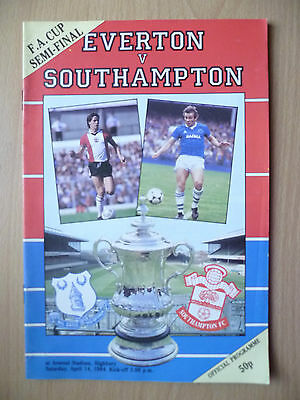 1984 FA CUP Semi Final- EVERTON v SOUTHAMPTON, 14th April