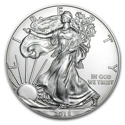 1 oz Silver American Eagle Coin 2015 ,Mirror effect free shipping 2pcs/lot
