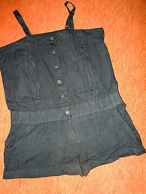 Exklusives schwarzes Jump-Suit Gr. 42 v.EnVie Shorts schmale Träger TOP Quality