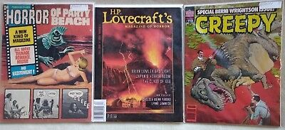 Lot of Rare/Vintage Horror Magazines Dagon Creepy Lovecraft's