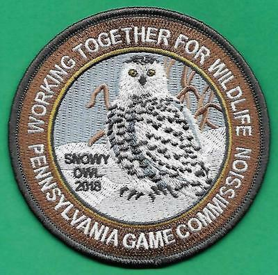 Pa Pennsylvania Game Fish Commission NEW JUST RELEASED 2018 WTFW Snowy Owl Patch