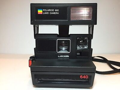 Vintage Polaroid 640 Instant Camera 600 Tested works *missing rubber eye cup
