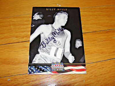 Rare Billy Mills Signed Autograph trading card- Track and Field -Olympics- Gold