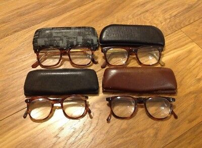 4 x Vintage Tortoiseshell Reading Glasses 1950's/1960's