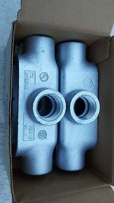 Lot Of 2 Appleton X100-M Conduit *new In Box*