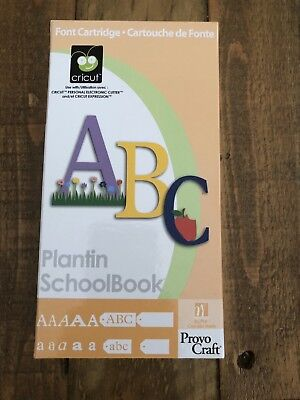 Cricut Cartridge ~ Plantin schoolbook