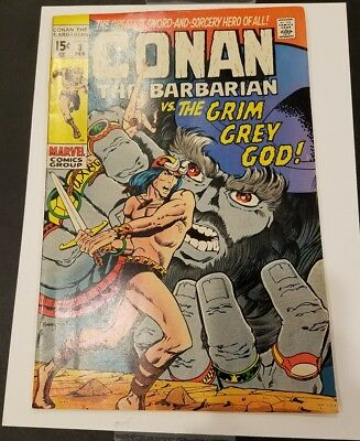 Conan the Barbarian #3 1970 Marvel
