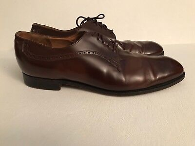 Vintage Church's Men's Custom Hand made Brown Leather Shoes Aldwych US 13,
