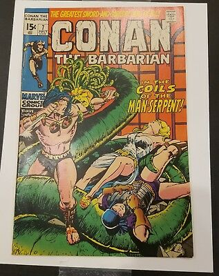 Conan the Barbarian #7 1970 Marvel