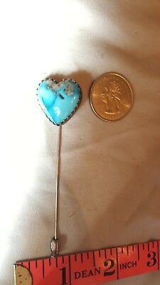 Vintage Turquoise Hat Pin Nice Big!