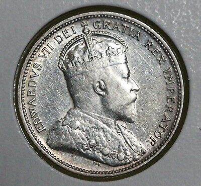 1906 25C Canada 25 Cents AU LARGE CROWN HIGH GRADE HARD TO FIND!!!
