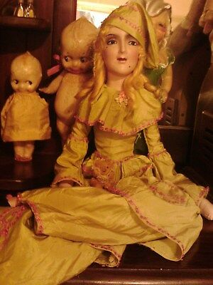 Mary Pickford Anita Flapper Boudoir Bed Doll Composition Antique/ Vintage