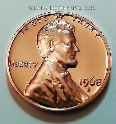 1968 S Lincoln Memorial Cent / Penny *proof*  **free Shipping**
