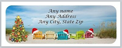 Personalized address labels Beach Christmas Buy 3 get 1 free (xac 522)