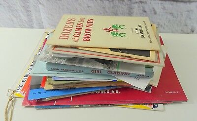 Large Lot of Vintage Girl Guide Booklets & Books 1950's 1960's