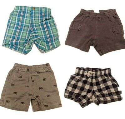 Baby Boys Size 12 Months Lot of Shorts. Carter's, Cherokee. Solid Plaid, Bottoms