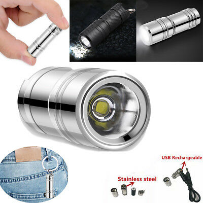 Mini XPG R5 LED Super Bright Flashlight Pen Light Small Torch Lamp Keychain BT