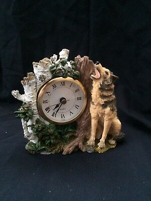 Wild Wolf Collection Clock