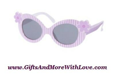 Gymboree NWT Lilac Purple DAFFODIL GARDEN FLOWER STRIPE DRESS SUNGLASSES 0 1 2 Y