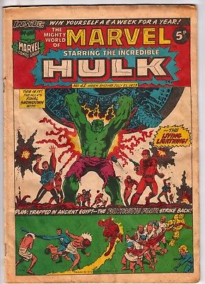 The Mighty World of Marvel #42, JACK KIRBY, HERB TRIMPE, Marvel UK 1973 VG-    r