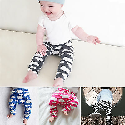 Infant Baby Boys Girls Harem Pants Kids Cotton Long Sweatpant Trousers 0-24M