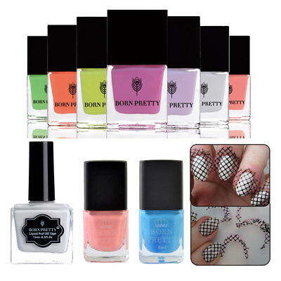 Born Pretty Nail Peel Off Liquid Tape Nail Polish Latex Base Coat Tools