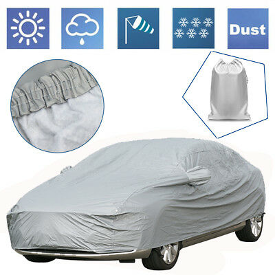 2 Layer Heavy Duty Waterproof Car Cover Cotton Lining Protection Larger Size XL