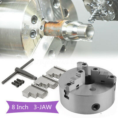 """8"""" 3 Jaw Lathe Scroll Chuck Self Centering Hardened For South Bend"""