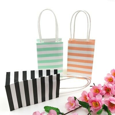 Coloured Paper Bags Party Gift With Handles Wedding Birthday Christmas Shopping