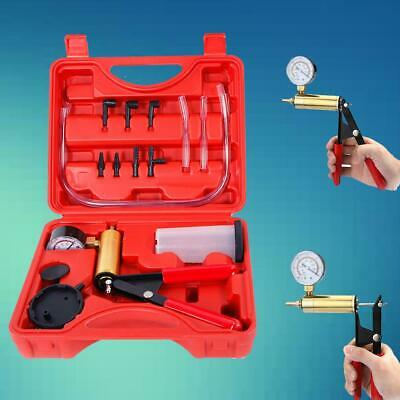 Car Hand Held Vacuum Pressure Pump Tester Brake Fluid Bleeder Bleeding Kit