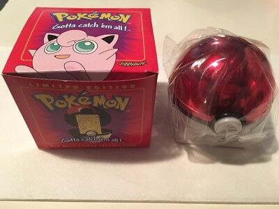 23K Gold-Plated Trading Card Pokemon Jigglypuff - Burger King 1999 Red Box Gift
