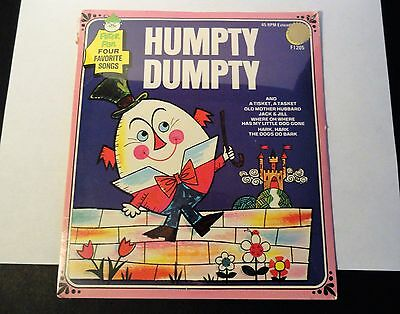 Vintage Humpty Dumpty 45 RPM Childrens Record - Peter Pan Records - Sealed/NOS