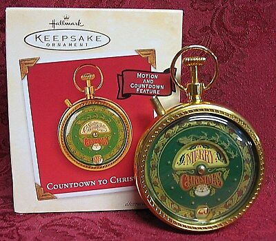 Hallmark 2003 Motion Ornament~Countdown To Christmas