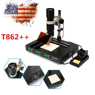 T862++ Advanced Infrared Heating SMD SMT BGA Rework Station IRDA Welder Machine