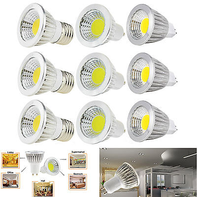 regulable MR16/GU10/E27/E14 LED FOCO 6w 9w 12w COB Bombilla Lámparas