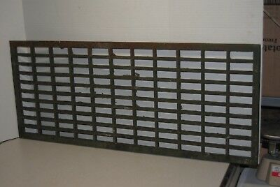 "Floor Heat Grate Register Cast Iron Antique 31"" x 13"" Rectangle Cold Air Return"