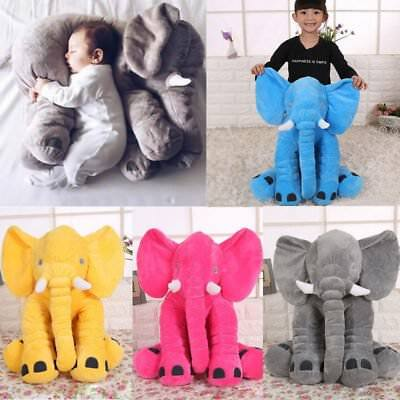 Big Elephant Pillow Cushion Stuffed Doll Toy Baby Kids Soft Plush Lumbar Nose LJ