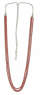 Natural Carnelian Gemstone Faceted Machine Cut Roundel Beads Necklace Gsn34