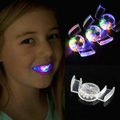 Color LED Light up Flashing Mouth Teeth Guard Piece Gadget Filler Party Fun Toys