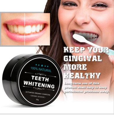 Natural Activated Organic Charcoal Teeth Tooth Whitening Powder Stain Remover