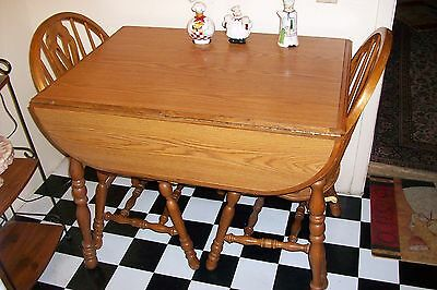 Old VINTAGE WOOD kitchen dinette set FURNITURE TABLE&CHAIRS~Delivery Trucks R US