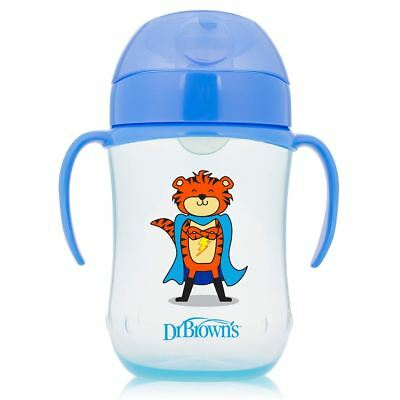 Dr Brown's Options Toddler/Baby Trainer Feeding Cup with Lid - 270ml, 9m+, Blue