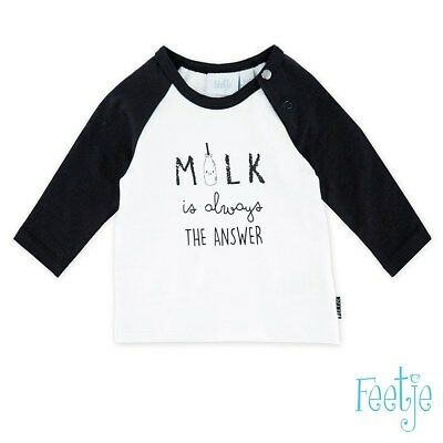 Feetje  Shirt Milk is always the answer Gr.  56 62 oder 68  Neu Sommer 2018
