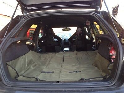 EXTRA HEAVYDUTY BOOT LINER-SEAT COVER 2IN1 for AUDI A4 CONVERTIBLE
