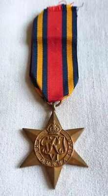 ENGLAND ORDEN BURMA STAR MEDAILLE mit Band