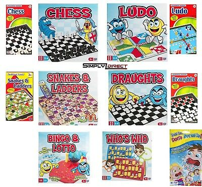 Classic Traditional Family Board / Travel Games Kids Children's Xmas Gift Toys